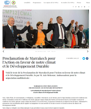 cop22 photo officielle